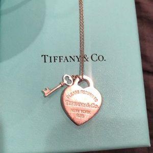 Tiffany & Co. heart and key necklace
